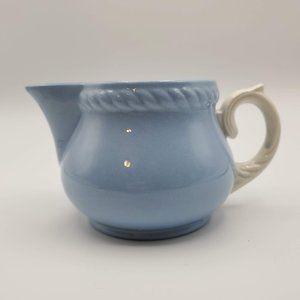 Vintage Homer Laughlin Kraft Blue Creamer